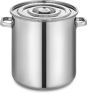 Olibelle Seau à Soupe Marmite en Acier Inoxydable 50 Quart Cafetière à thé avec Couvercle 12.5 Gallon Préparation pour la ...