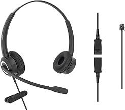 $57 » DailyHeadset RJ9 Corded Office HD Voice Headset for MITEL Nortel Meridian Polycom NEC ShoreTel Xblue IP Phones Noise Cance...