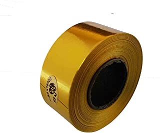 """DWES Plastic Ribbon Glossy Gold 1"""" Wide (1 Nos)"""