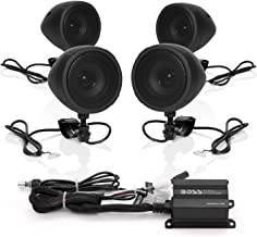 Boss Audio Systems MCBK470B Motorcycle Bluetooth Speaker System – Class D Compact..