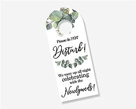 10 Pack Floral Wedding Door Hanger Sign, Hotel Welcome Bag, Do Not Disturb Sign (DH-301-CE) (Celebrating)