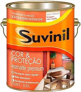 Tinta Esmalte Sintético Cor e Proteção Brilhante Para Madeira e Metal Branco 3,6 Litros - SUVINIL - Tinta Esmalte Sintétic...
