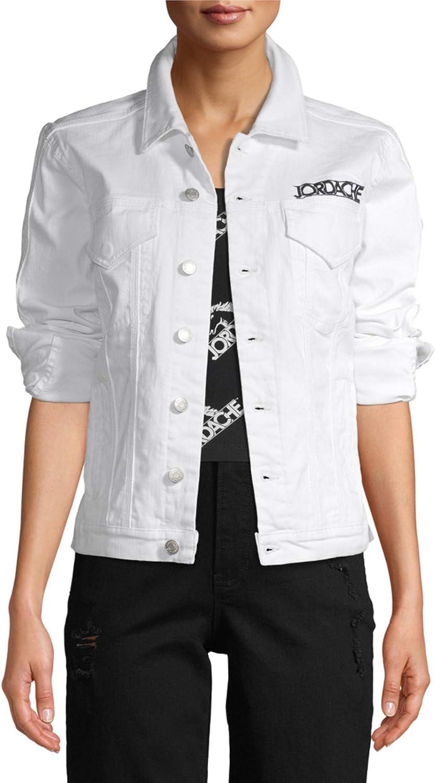 Jordache Vintage Women's Long-Sleeve Stevie Trucker Jacket (White)