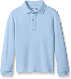 Boys' School Uniform Long Sleeve Polo