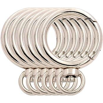 Keys BIKICOCO 1-1//2 Round Spring Gate O-Ring Clasp Push Snap Hook Screw Belt Hardware Loop for Handbags Light Gold 10 Pcs