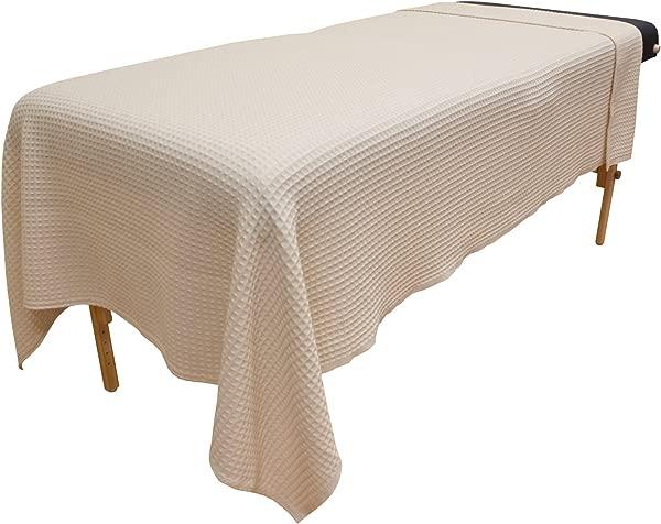Body Linen Waffle Weave Blanket Natural