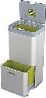 Joseph Joseph 30031 Intelligent Waste Totem Kitchen Trash Can and Recycle Bin Unit, 16 gallon / 60 liter, Silver