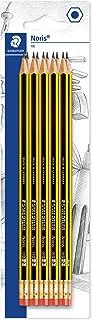 STAEDTLER 122-2 BK10 ołówek Noris (HB, sześciokątny, z gumką, zestaw 10 niewiarygodnie odpornych na pękanie, wysoka jakoś...