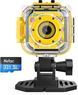 Kids Digital Camera, Oiiwak Kid Cameras for Girls Gift Waterproof and Shockproof 5.0 MP Child HD Action Video Camcorder Included 32GB Memory Card