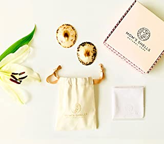MOM'S SHELLS (T.Medium) - Coquillages d'allaitement Nacre + Lingette OFFERTE - Protège-Mamelons Naturels - Soulage et Apai...