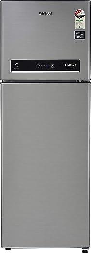 Whirlpool 265 L 3 Star Inverter Frost-Free Double Door Refrigerator (INTELLIFRESH INV CNV 278 3S, German Steel, Convertible)