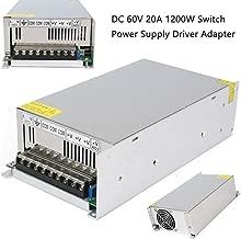 Xunba DC 60V 20A 1200w Power Adapter Driver Transformer 110V AC DC 60V Power Supply for Led Strip lamp CNC CCTV