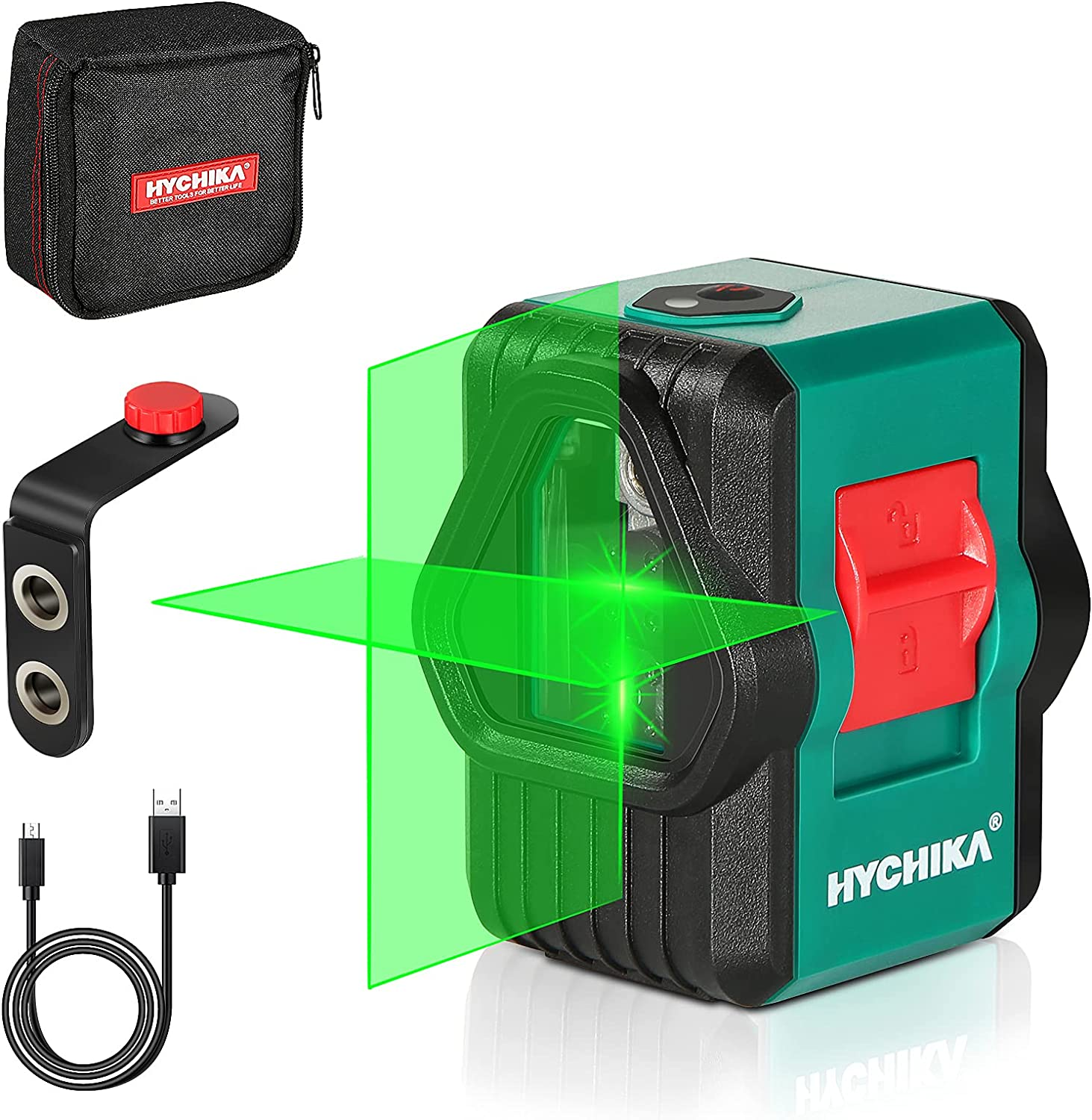 trend rank Laser Level HYCHIKA 150 Ft Green Modules supreme Dual Line