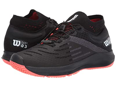 Wilson Kaos 3.0 Sft (Black/White/Fiery Coral) Women