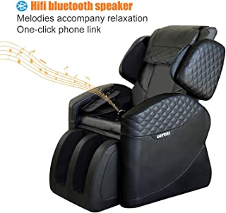 OOTORI Massage Chairs & Recliner Faux Leather Full Body,Zero Gravity Remote Control Heat & Vibration Modes Music (Black)