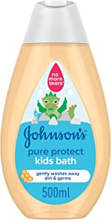 JOHNSON'S Toddler & Kids Bath - Pure Protect, Gentle Formula Free of Parabens & Dyes, 500ml