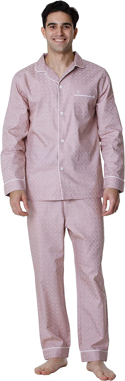 De Lucca Mens Cotton Long Pajama Set