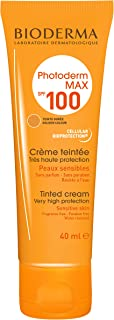 Bioderma Photoderm MAX Sunscreen Cream SPF 100 Golden Tint for Normal to Dry Sensitive Skin, 40ml