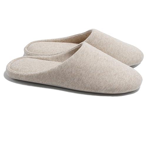 19b7e476abd Ofoot Women s Cotton Memory Foam Washable Anti-Slip Indoor Slippers