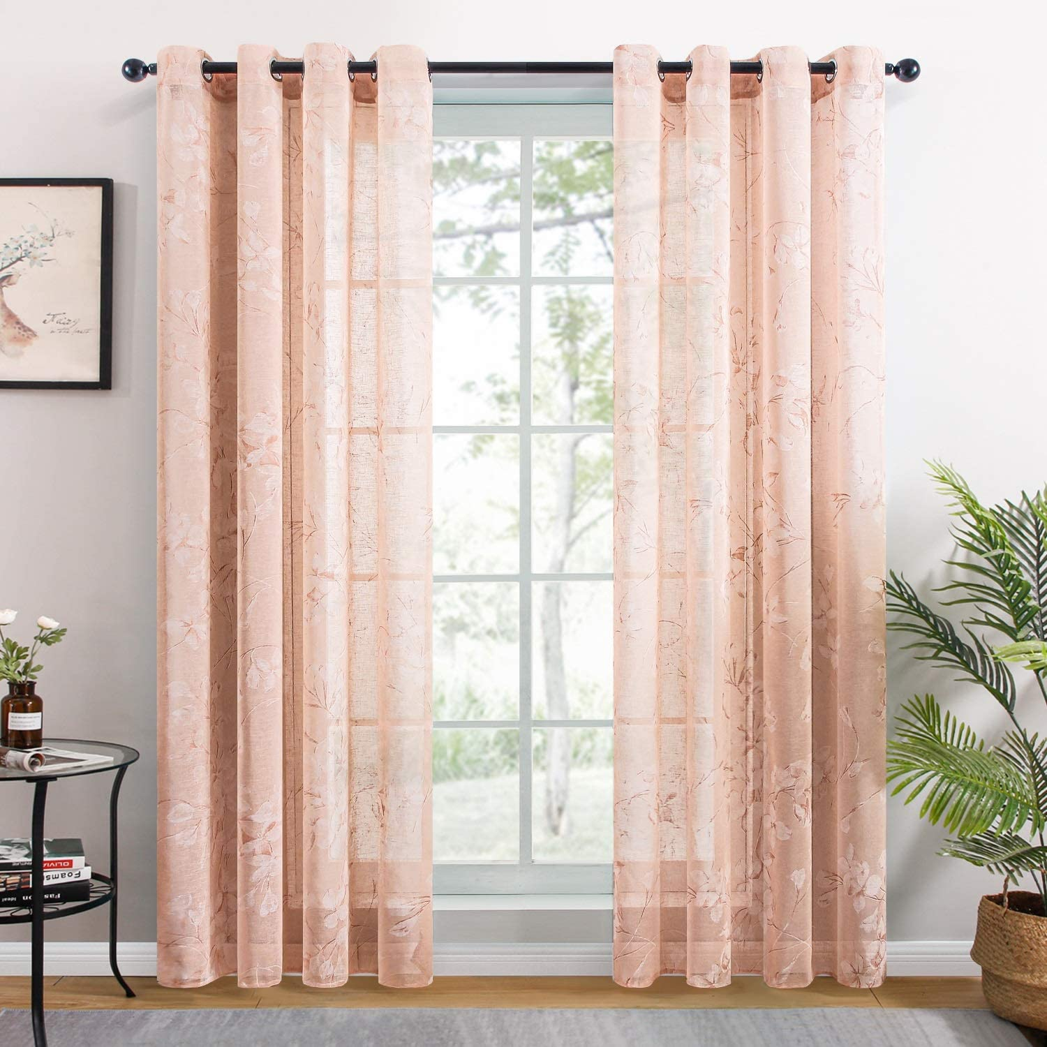 famous AFANGMQ Set of Popular 2 Sheer Curtains Kitchen Living Room for Bedroom