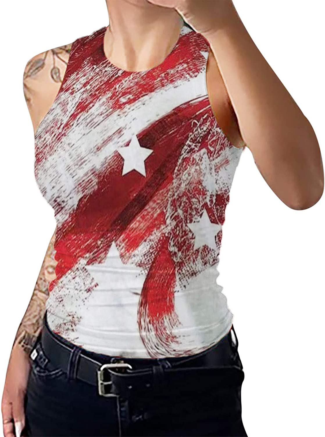 Patriots Tank Tops for Financial sales sale Year-end gift Womens Sexy Neck Vest Tshir Sleeveless V