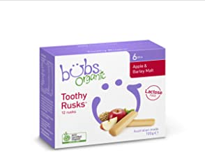 Bubs Organic Apple and Barley Lactose Free Toothy Rusks, 100 g