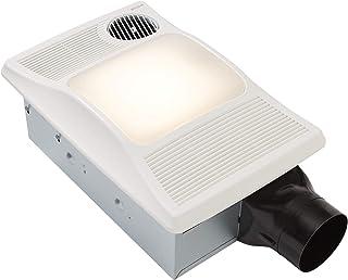Broan-NuTone 100HL Directionally-Adjustable Bathroom Heater, Fan, and Light Combo, 2.0 Sones, 100 CFM, White
