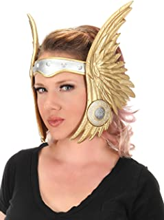 elope Winged Viking Valkyrie Costume Headband Gold