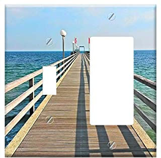 1-Toggle 1-Rocker/GFCI Combination Wall Plate Cover - Haffkrug Sea Bridge Baltic Sea Baltic Sea Bea