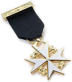 Masonic, gioiello da appendere al petto, spilla a forma di stemma dei cavalieri di malta