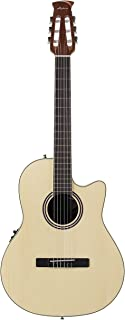 Ovation Applause Balladeer AB24CII-SPR Mid Depth Classical Guitar, Natural Spruce