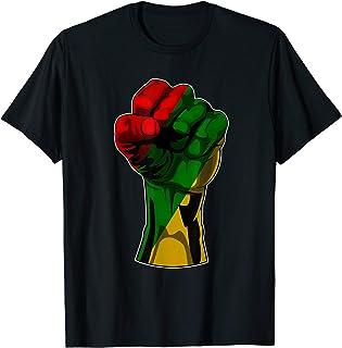 Black History T Shirt Month Fist Gift Women Men Kids T-Shirt