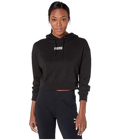 PUMA Wild Pack Cropped Hoodie (Cotton Black) Women