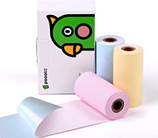Sticker Printer Paper-3 Color(Blue,Pink,Yellow) Sticker Paper For Thermal Pocket Printer