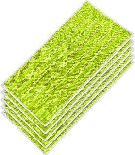 KEEPOW Ersättning mikrofiber moppdynor för Swiffer våt och torr moppstartare, tvättbara och återanvändbara påfyllningar, 5...