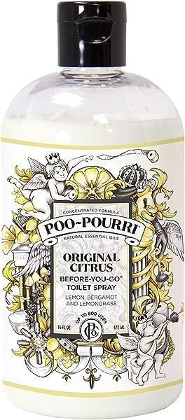 Poo Pourri Before You Go Toilet Spray 16 Ounce Refill Bottle Original Free Poo Pourri Before You Go Toilet Spray 4ml Travel Size Disposable Spritzer
