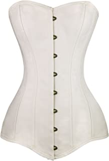 Charmian Women's 26 Steel Boned Cotton Long Torso Hourglass Body Shaper Corset