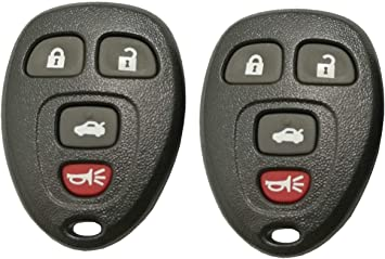 4 Button Keyless Remote Key Fob Shell Case fit for GMC Chevrolet Buick Cadillac