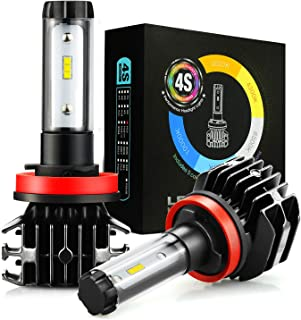 JDM ASTAR 4S 8000 Lumens Extremely Bright DIY 5 Color Temperature High Power H11 H8 H16 All-in-One Fanless Design LED Headlight Bulbs, Fog Light Bulbs,DRL
