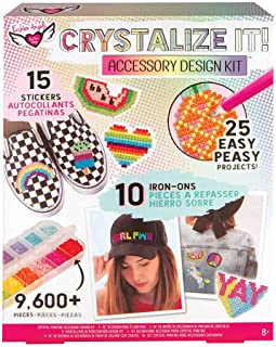 Fashion Angels CRYSTALLIZE IT! Crystal Painting Set Accessory Design Kit (12365) Rhinestone Paint by Number, Ages 8 and up