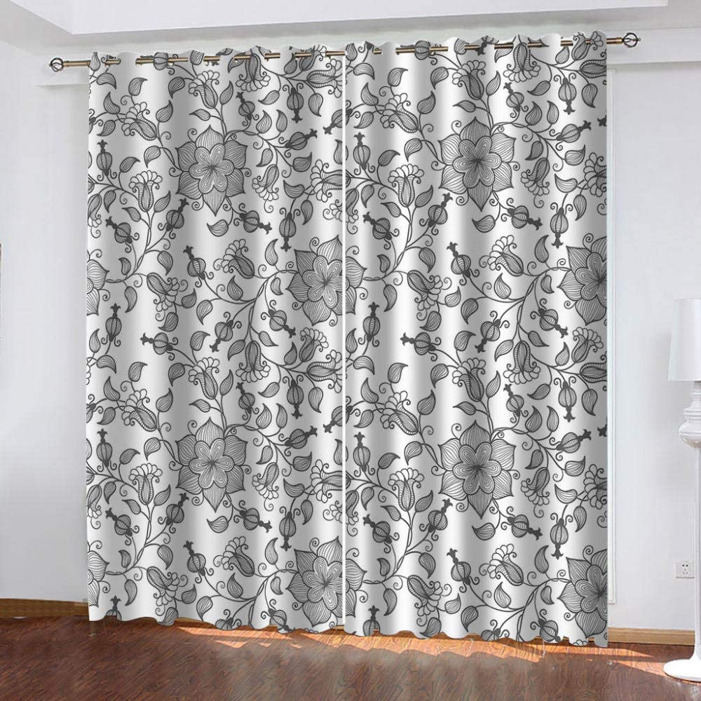 IZYLWZ Blackout Window Curtain 2 Panels Blo Low price Full and A surprise price is realized Light Heat