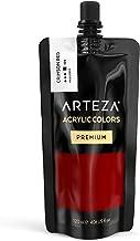 Arteza Pintura acrílica   Color Rojo Carmesí   Bolsa individual de 120 mililitros   Pinturas acrílicas para lienzos