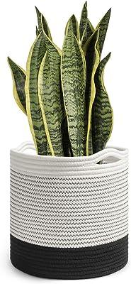 Cesta para macetas de 10 pulgadas de algodón tejido con cuerda ...