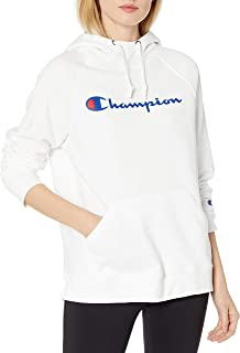 Champion Womens GF934 Powerblend Graphic Hoodie Hooded Sweatshirt