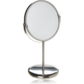 Ikea Trensum Double Sided Magnifying Make Up Table Mirror Stainless Steel Frame Amazon Co Uk Beauty