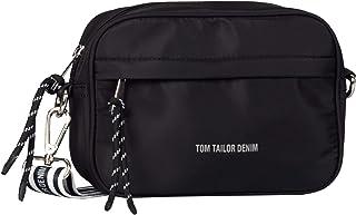 Denim TOM TAILOR bags ALEXIA Damen Umhängetasche S, mixed black, 21x6.5x15