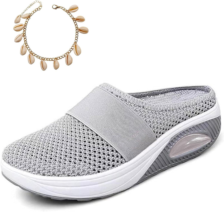 Zapatos ortopédicos para caminar con cojín de aire para mujer, zapatos ortopédicos para caminar con diabéticos, transpirables, casuales, con cojín de aire sin cordones