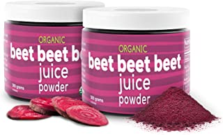 Beet Beet Beet - Organic Beet Juice Powder Supports Healthy Blood Pressure, Cholesterol - Pure USA Grown - No Additives or...
