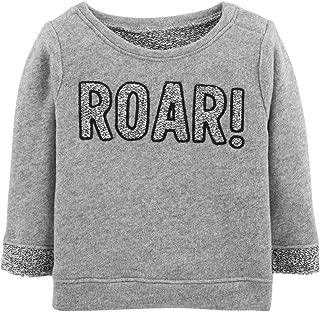 Carter's Infant Boys Gray Roar Baby Sweater Sweatshirt