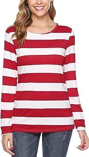 Striped T-Shirt Long Sleeve Halloween Shirt Blouse Top
